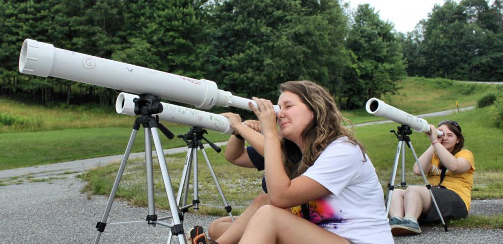 students a self built telescopes