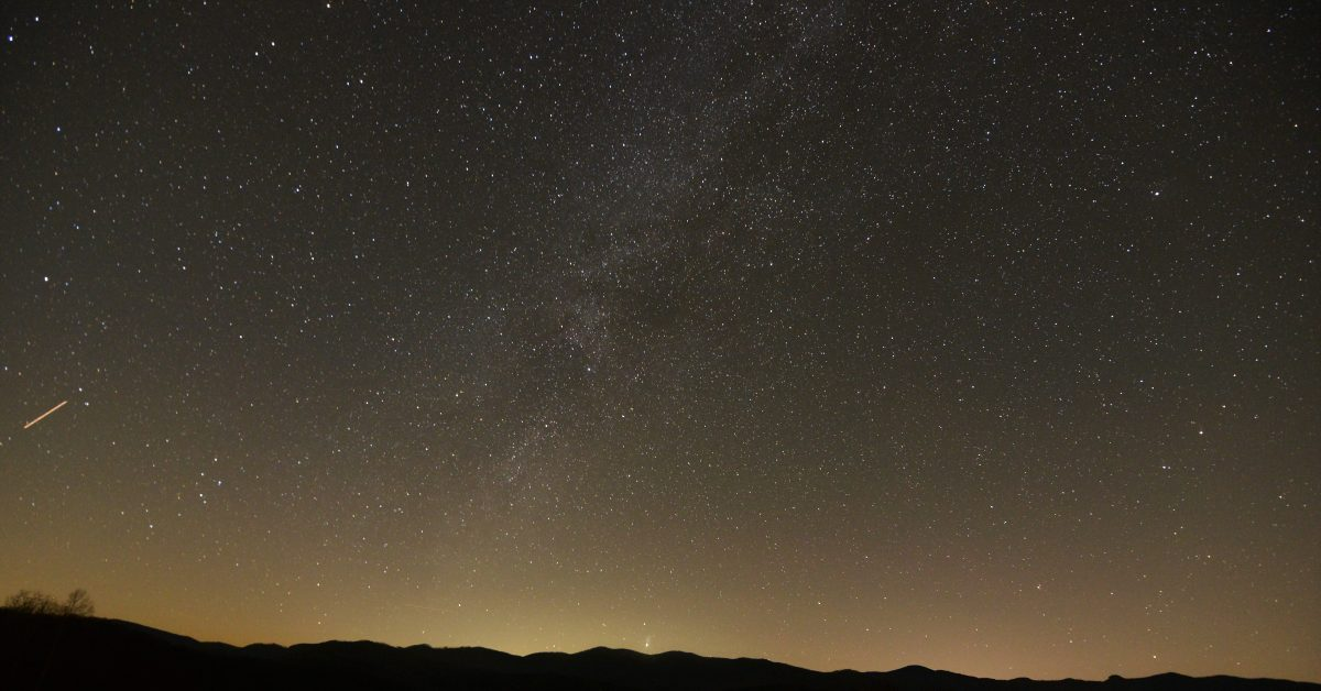 Milky Way from South Ridge and meteor