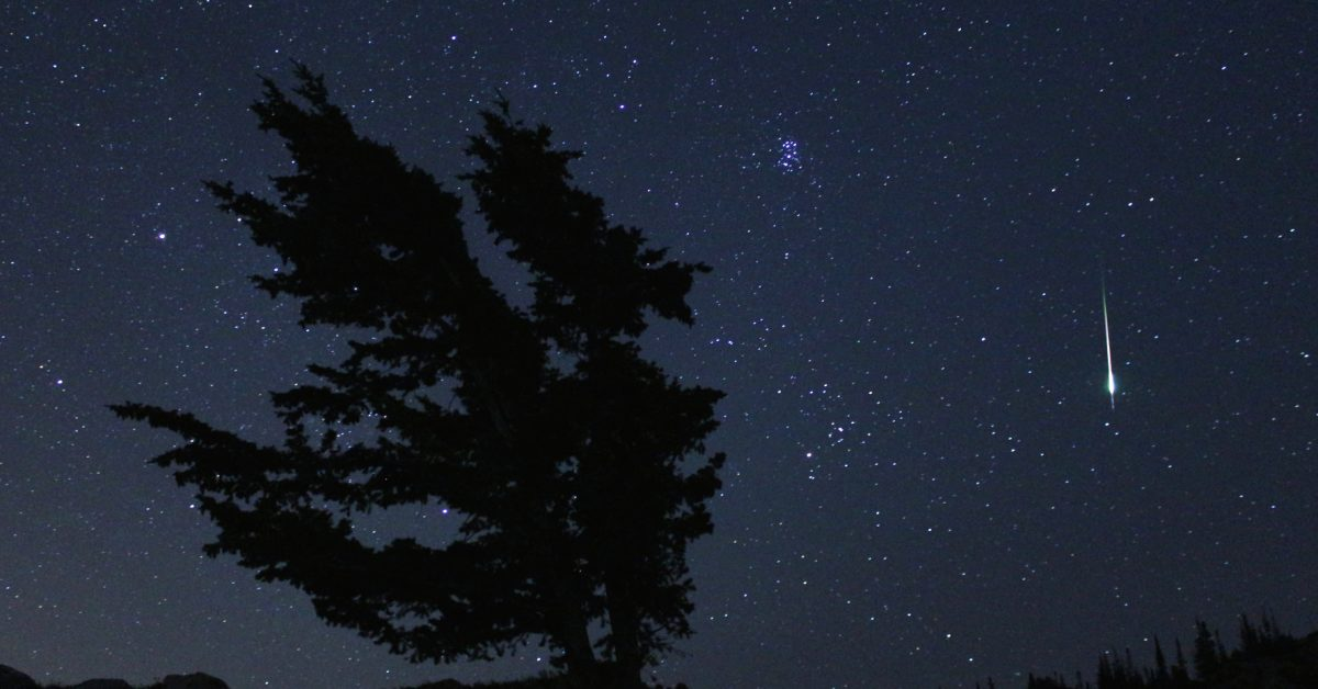 NASA photo for perseids